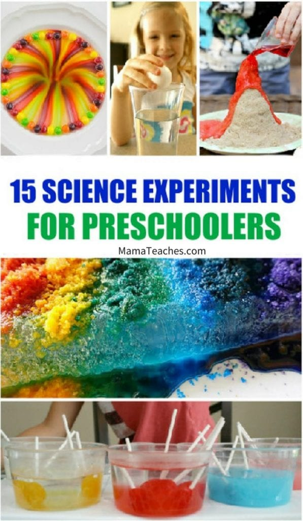 15 Science Experiments for Preschoolers