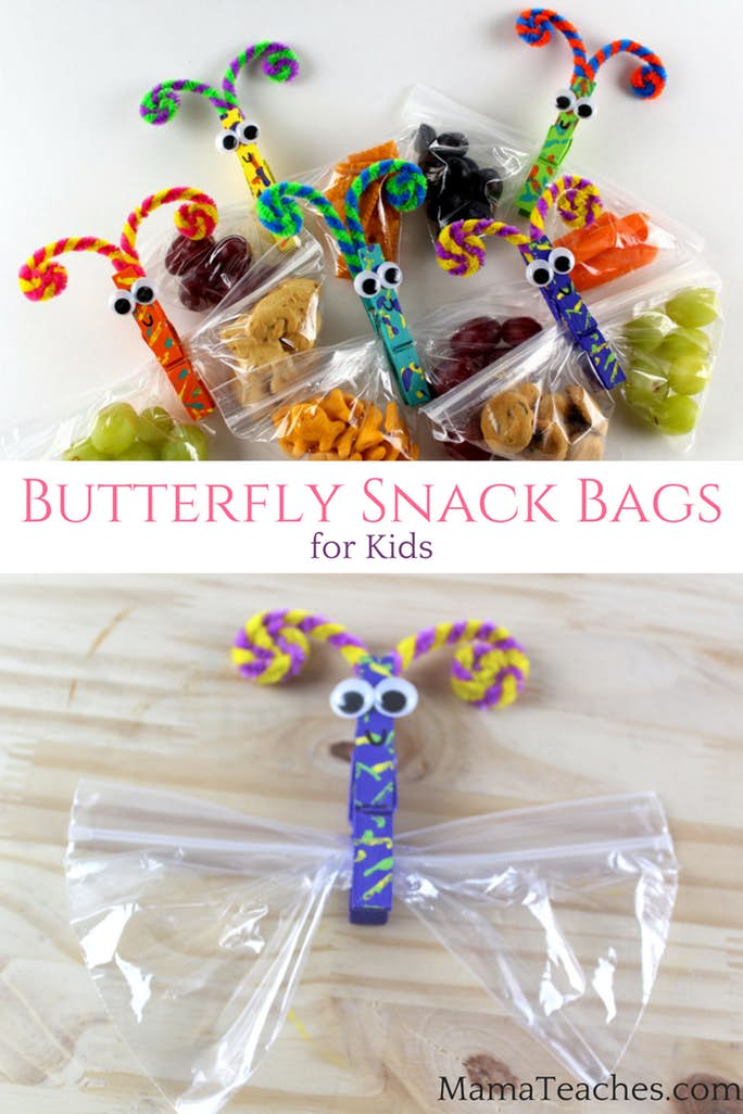 Butterfly Snack Bag Clips for Kids Snacks