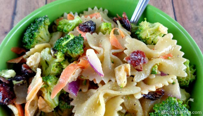 Cranberry Broccoli Pasta Salad Recipe