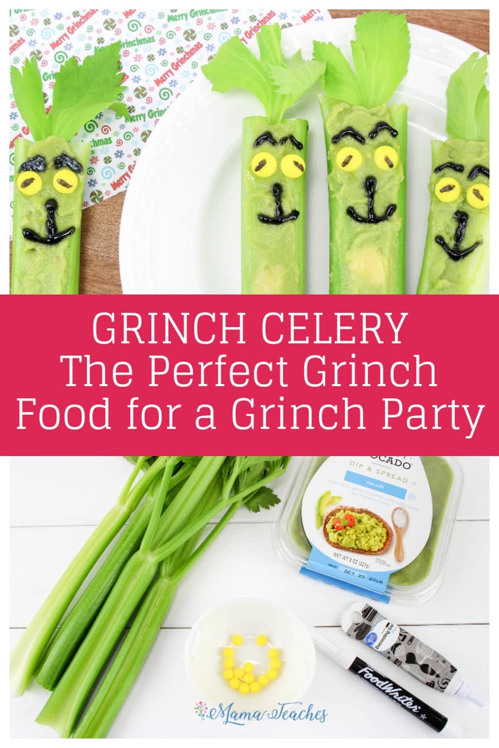 Easy Grinch Celery Recipe for Kids
