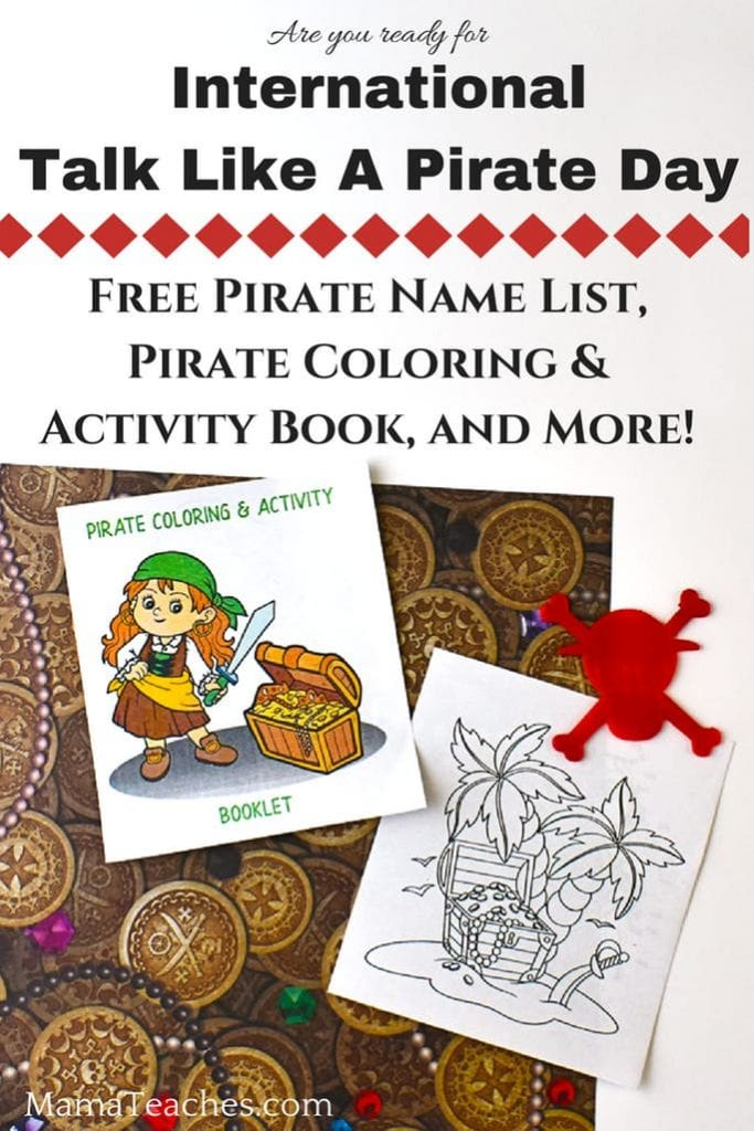 Pirate Printables and Activities