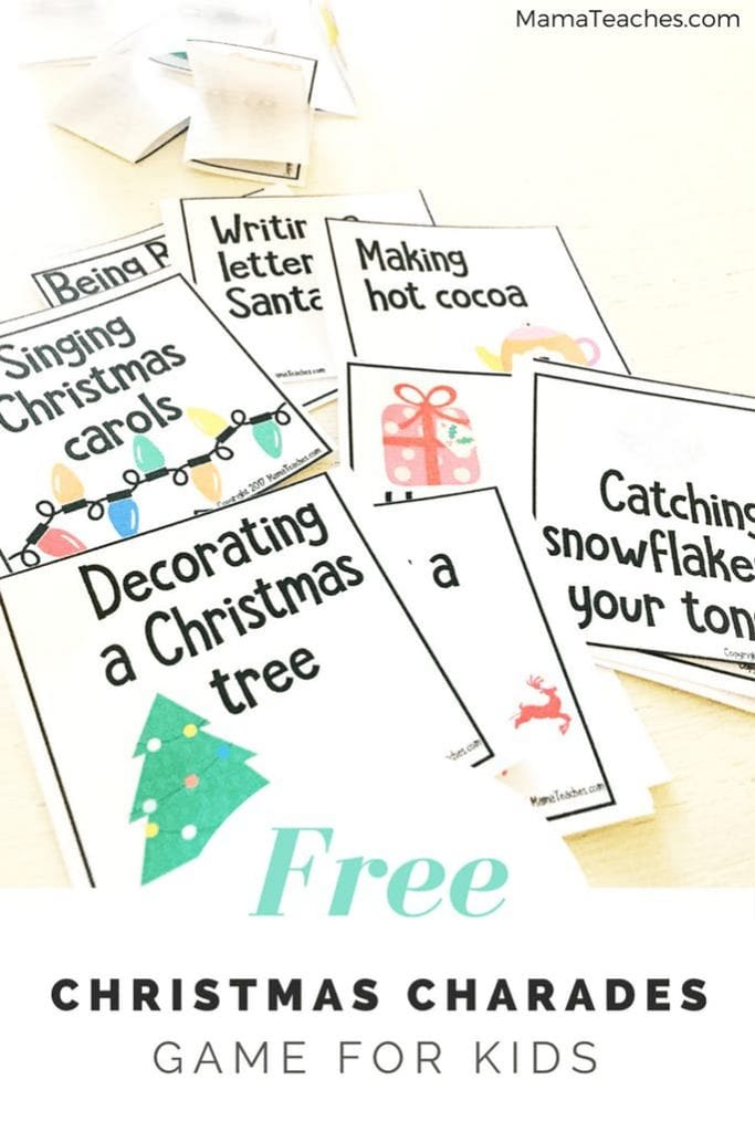 Free Christmas Charades Game for Kids