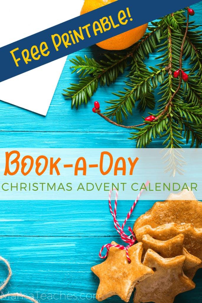 Free Printable Book a Day Christmas Advent Calendar