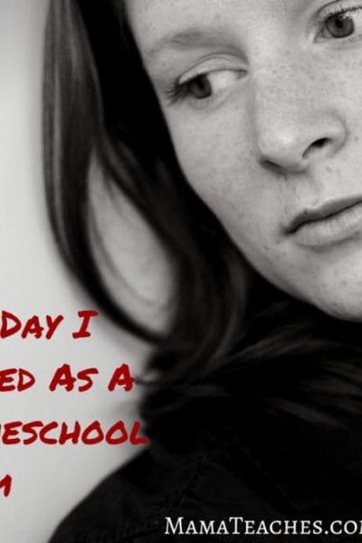 I Fear I Am Failing as a Homeschool Mom