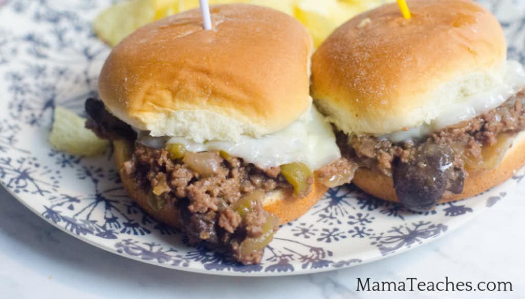 Instant Pot Philly Cheesesteak Sliders Recipe