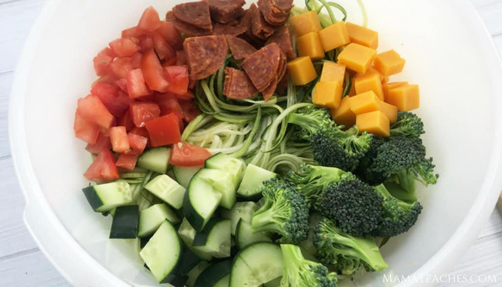 Italian Pasta Salad with Vegetable Noodles
