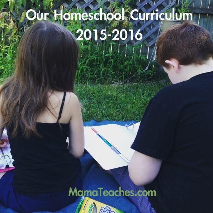 Our Homeschool Curriculum for 2015-16