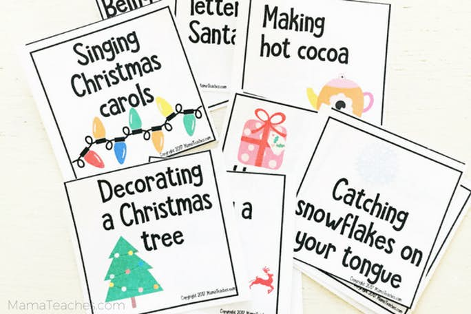 Printable Christmas Charades Game for Kids