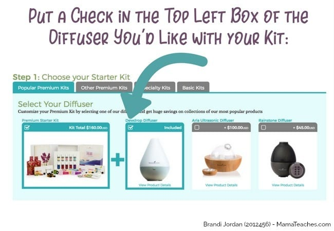Step 3 for How to Order a Young Living Premium Starter Kit