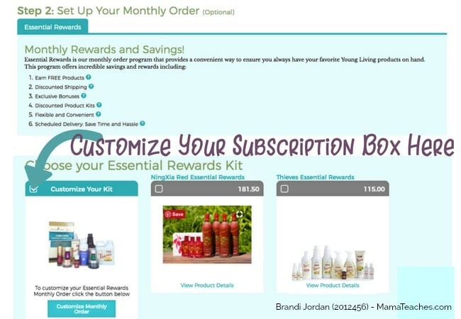 Step 3b in How to Order a Young Living Premium Starter Kit