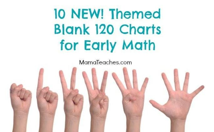 10 Themed Blank 120 Charts for Kids