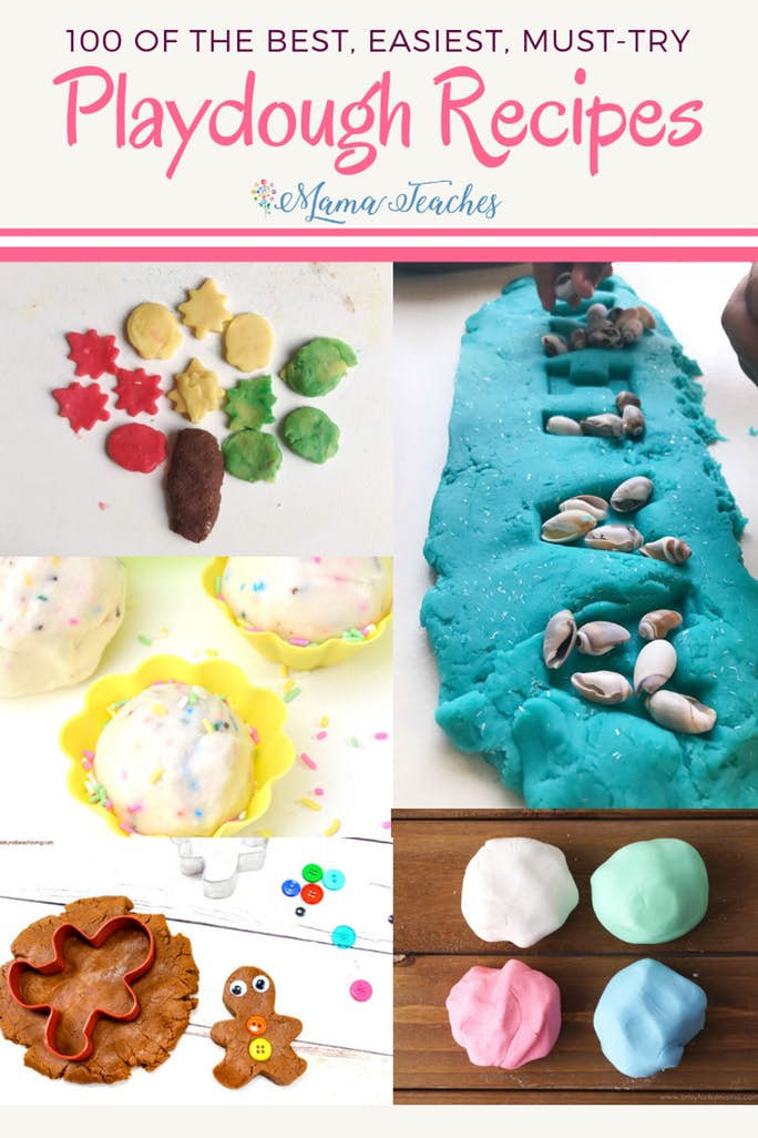 100 Best Playdough Recipes for Kids - including edible play dough!