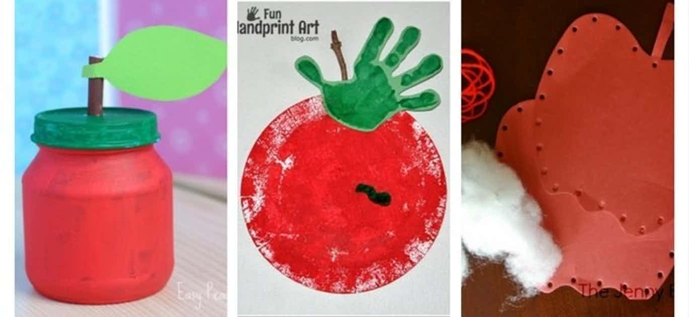 10 Apple Crafts for Kids