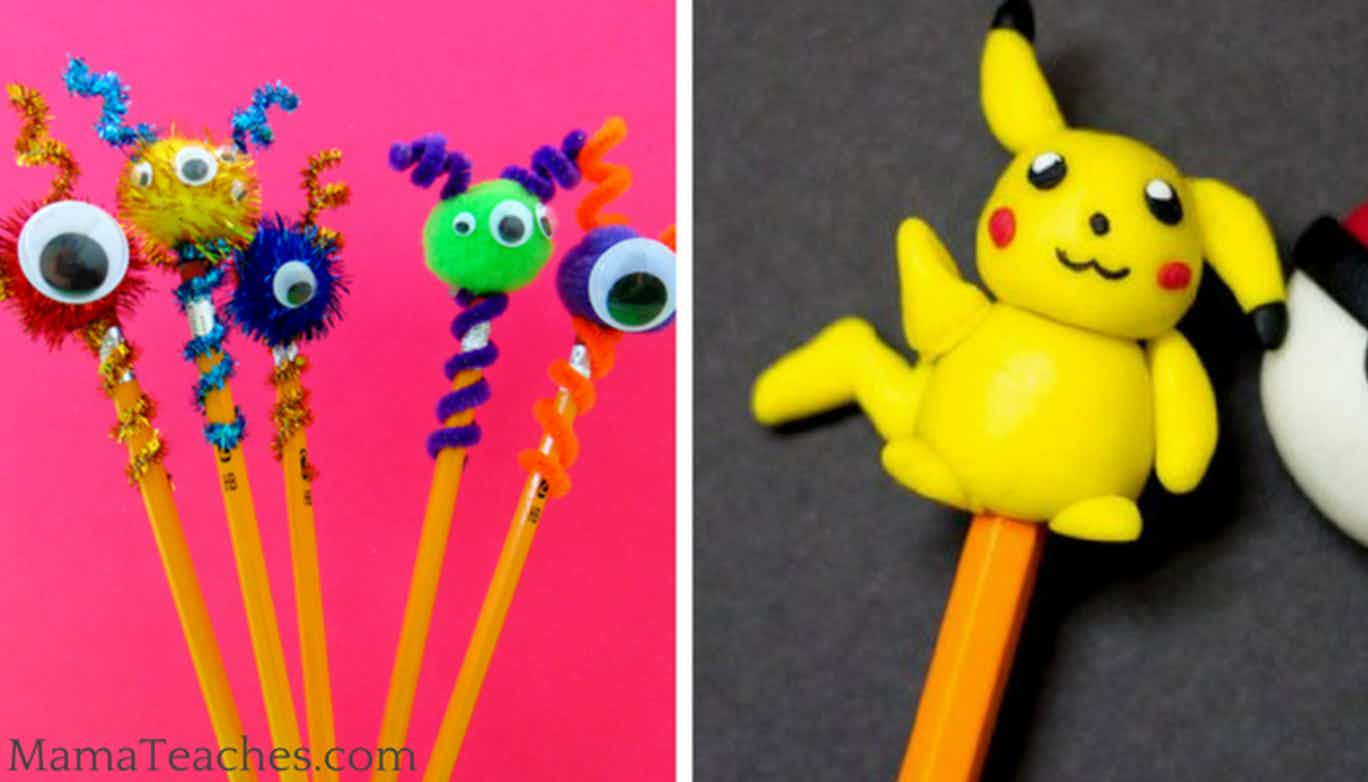 10 Pencil Topper Crafts for Kids