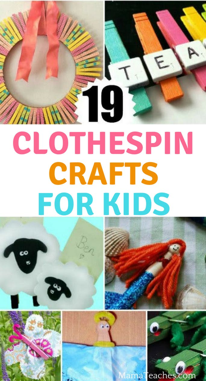 19 Clothespin Crafts for Kids
