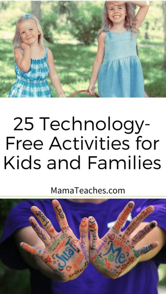 25 Technology Free Activities for Kids and Families