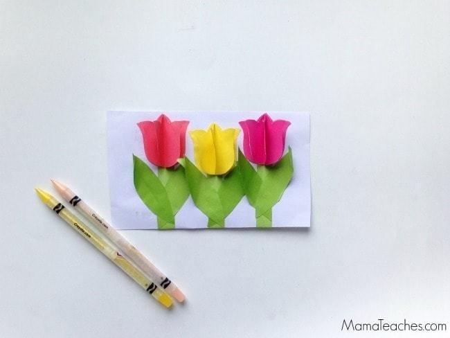 3D Tulips Kids Craft