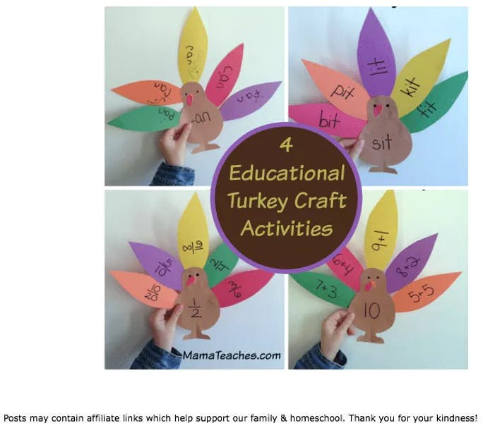 4 Educational Turkey Craft Activities
