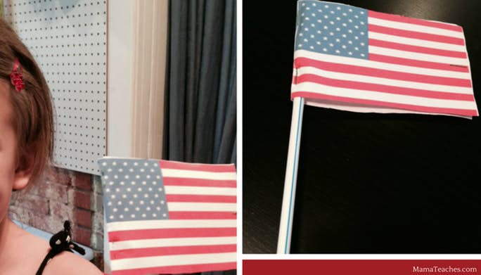 4th of July Flag Craft for Kids