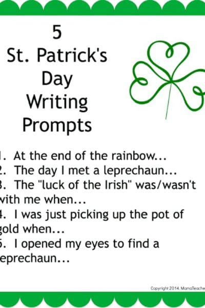 5 St. Patrick's Day Writing Prompts