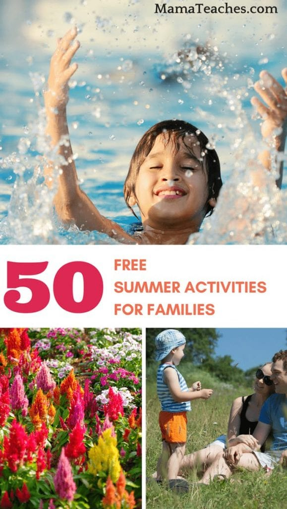 50 Free Summer Activities for Families - MamaTeaches.com