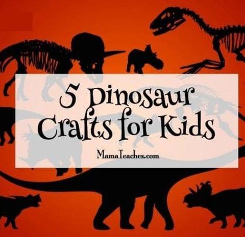 5 Dinosaur Crafts for Kids