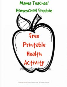 An Apple a Day – Free Printable Health Activity for Kids