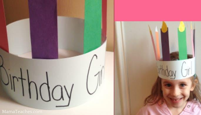 Birthday Crown Craft for Kids