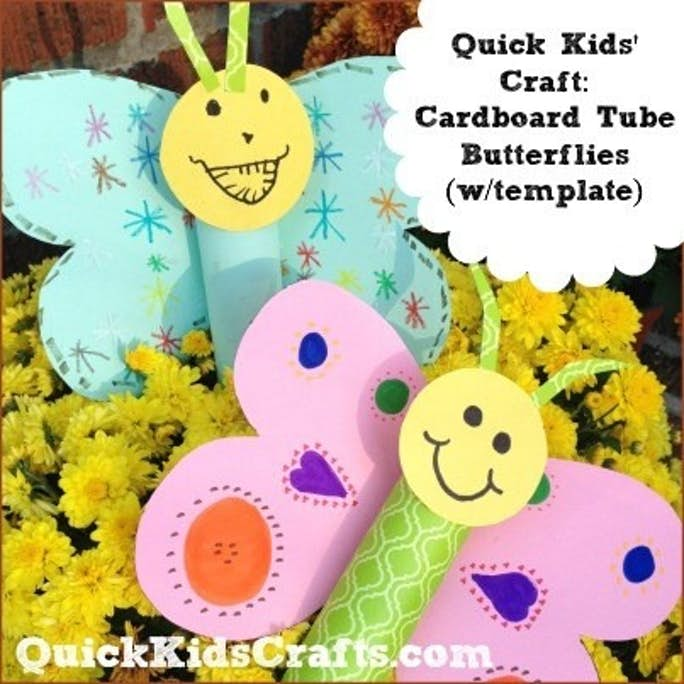 Cardboard Tube Butterfly Craft