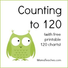 Counting to 120 – Free Printable Charts