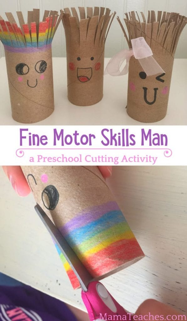Cutting Activity for Preschoolers - Fine Motor Skills Man