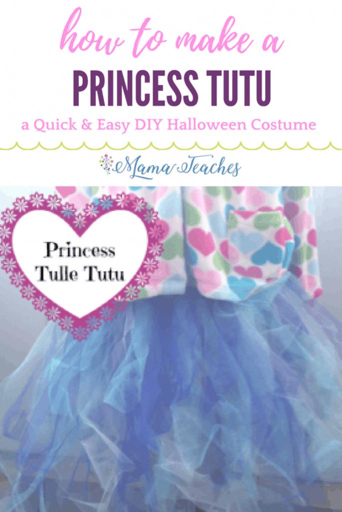 DIY Princess Tulle Tutu Skirt