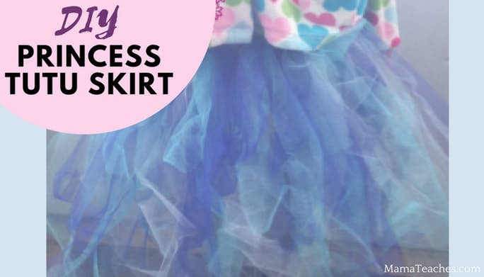 DIY Princess Tulle Tutu Skirt