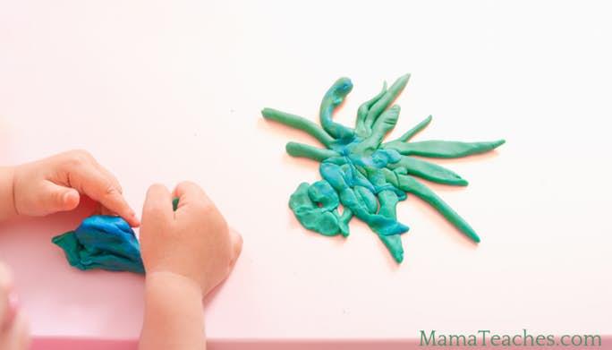 DIY Edible Green Play Dough