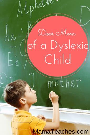Dear Mom of a Dyslexic Child