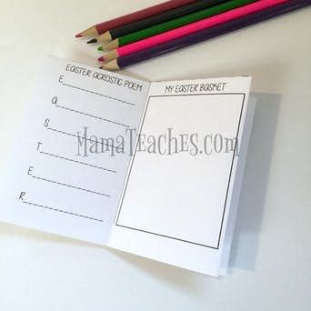 Easter Printable for Kids: Foldable Mini-Book