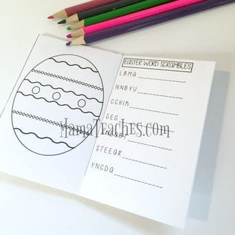 Easter Printable for Kids: Foldable Mini-Book