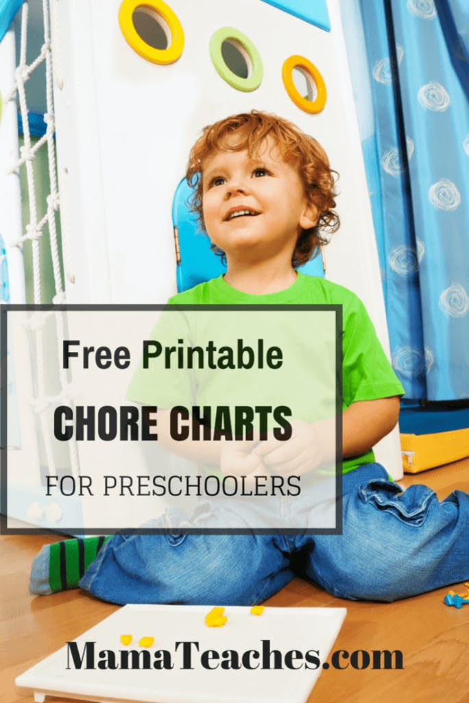 Free Printable Chore Charts for Preschoolers