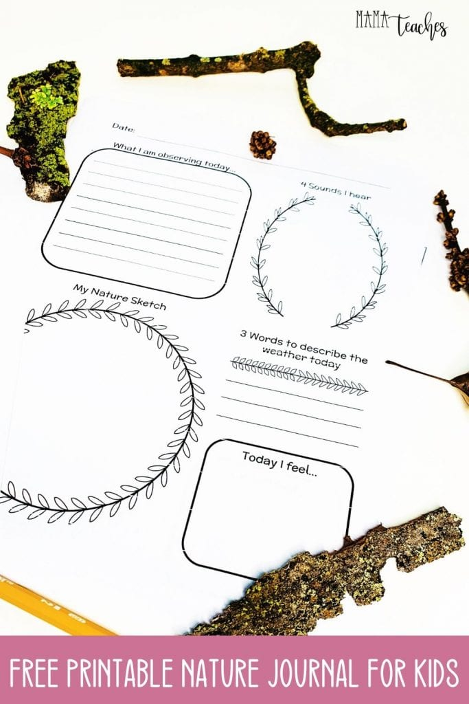 Free Printable Nature Journal - a Homeschool Science Freebie from Mama Teaches