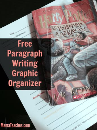Freebie Friday: 12 Sentence Paragraph Graphic Organizer