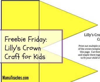 Freebie Friday Party: Lilly's Purple Plastic Purse Crown Craft