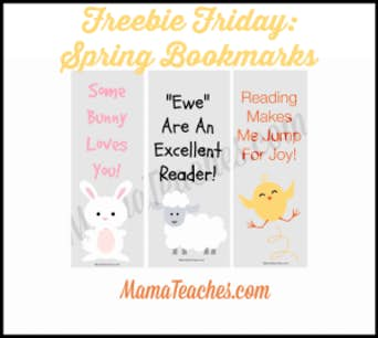 Freebie Friday: Spring Bookmarks