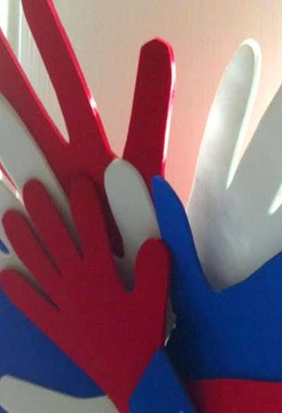 Handprint 4th of July Wreath Craft for Kids