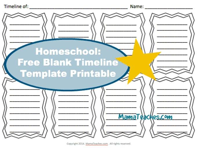 Homeschool Free Blank Timeline Template Printable