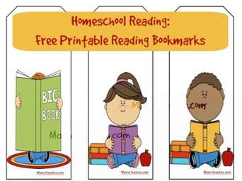 Homeschool Reading: Free Printable Reading Bookmark