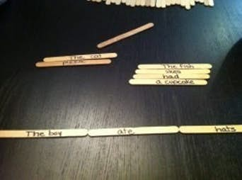 How to Build Words and Silly Sentences with Craft Sticks