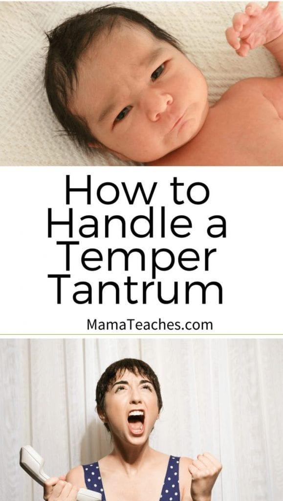 How to Handle a Temper Tantrum