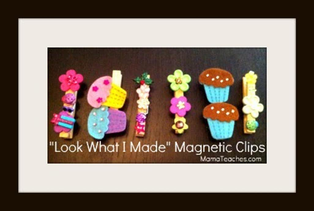"How to Make ""Look What I Made"" Magnet Clips"