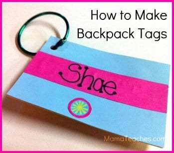 How to Make Backpack Tags