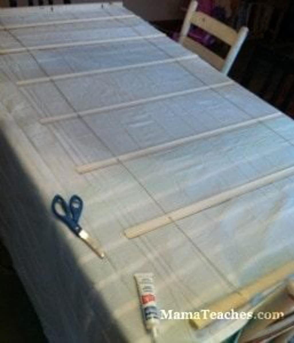 How to Make No Sew Roman Shades from Recycled Mini Blinds 5